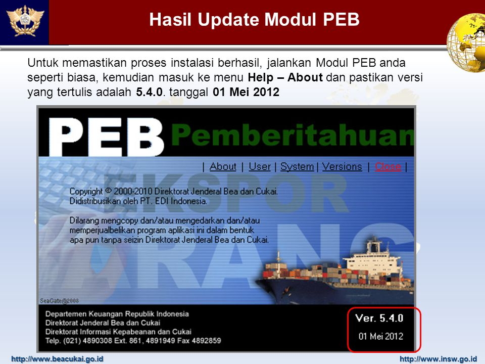 Hasil Update Modul PEB