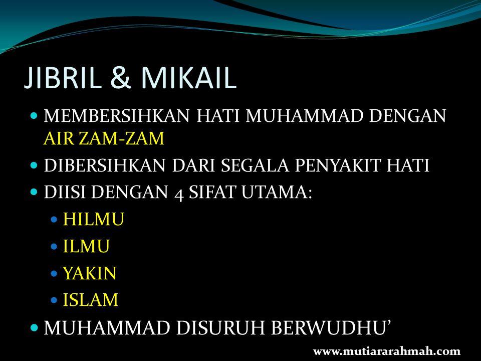 JIBRIL & MIKAIL MUHAMMAD DISURUH BERWUDHU'