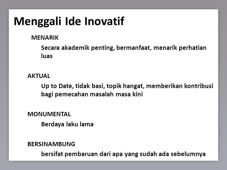 Menggali Ide Inovatif MENARIK