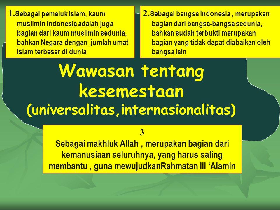 kesemestaan (universalitas,internasionalitas)