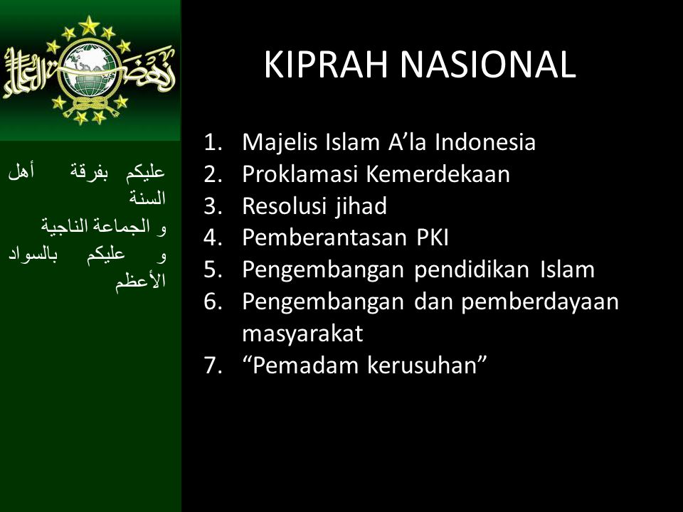KIPRAH NASIONAL Majelis Islam A'la Indonesia Proklamasi Kemerdekaan