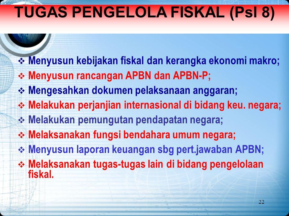TUGAS PENGELOLA FISKAL (Psl 8)