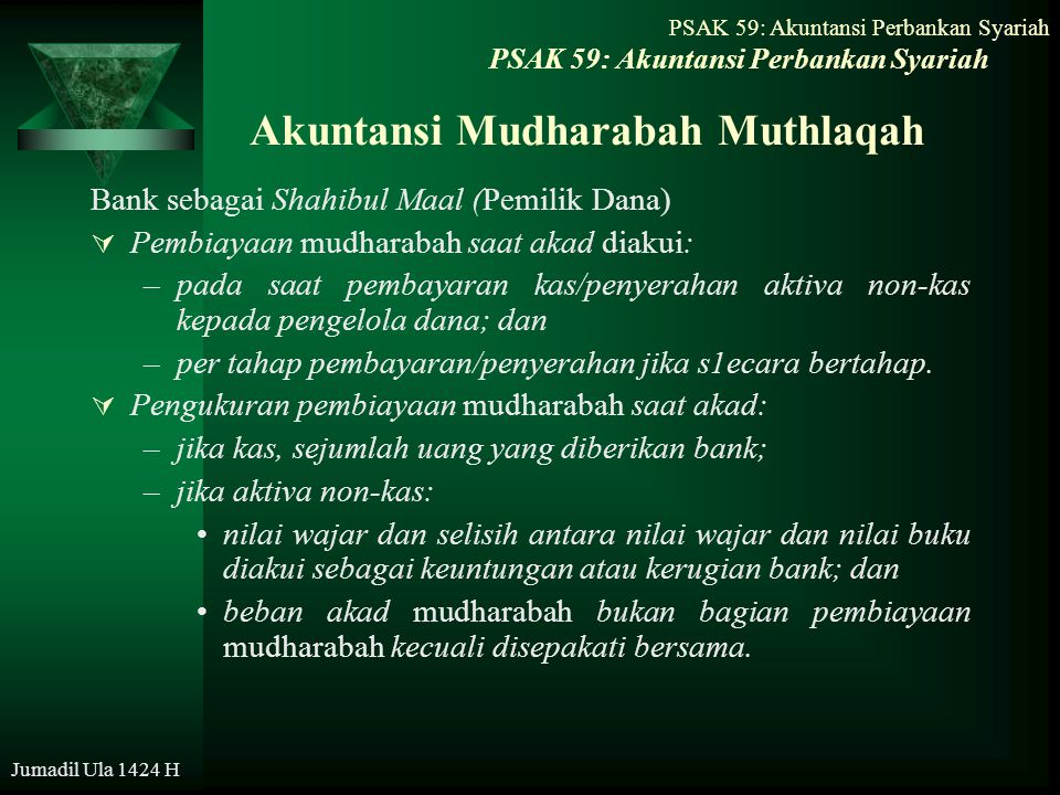 Akuntansi Mudharabah Muthlaqah