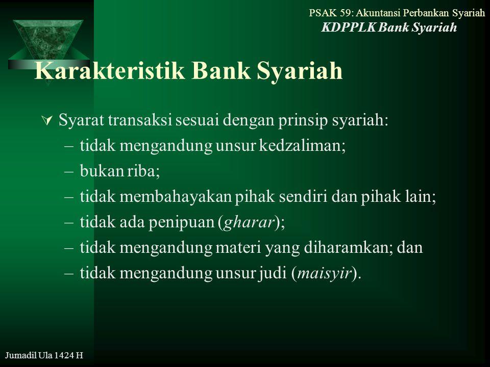 Karakteristik Bank Syariah