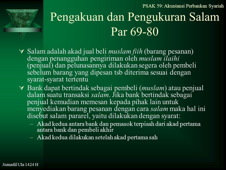 Pengakuan dan Pengukuran Salam Par 69-80
