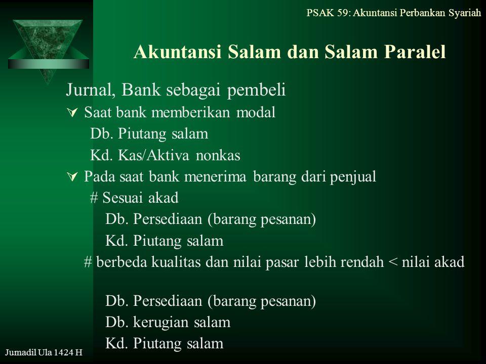 Akuntansi Salam dan Salam Paralel