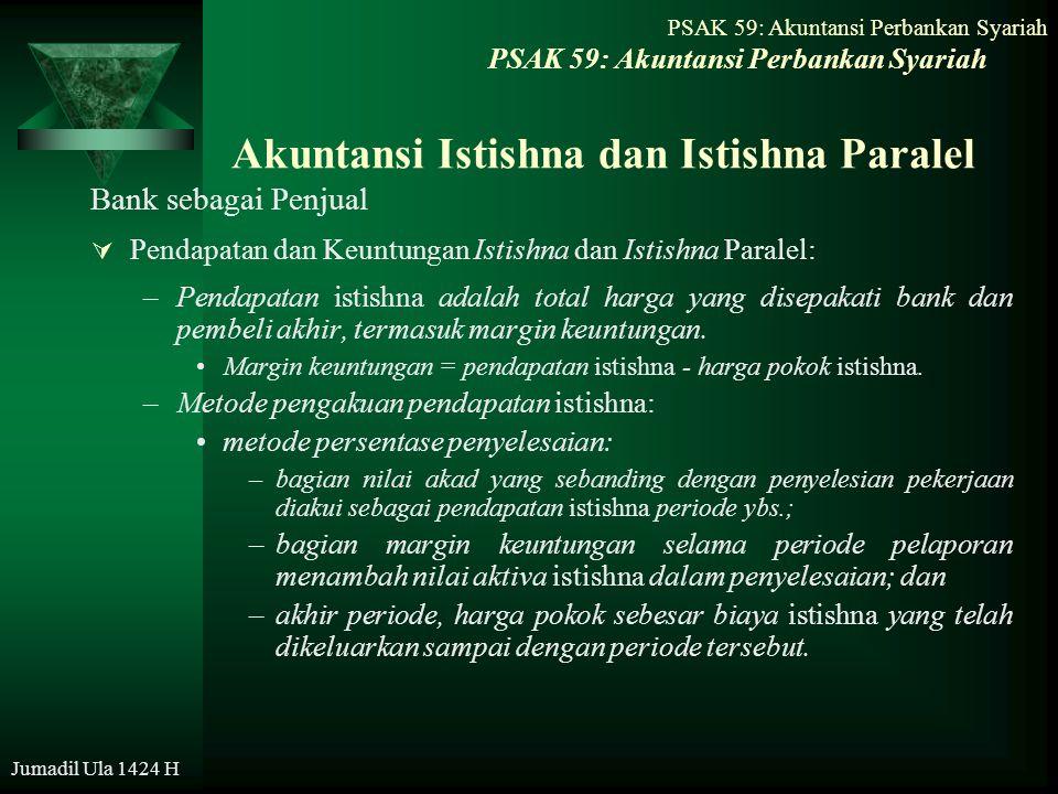Akuntansi Istishna dan Istishna Paralel