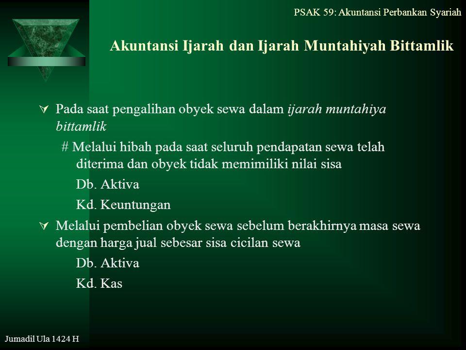 Akuntansi Ijarah dan Ijarah Muntahiyah Bittamlik