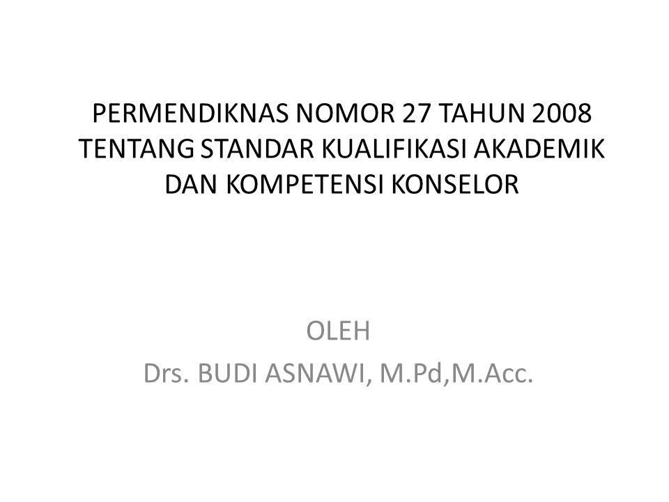 OLEH Drs. BUDI ASNAWI, M.Pd,M.Acc.