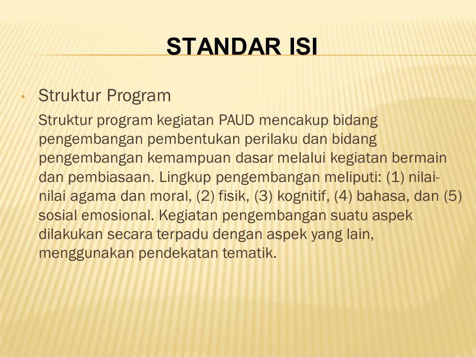 STANDAR ISI Struktur Program