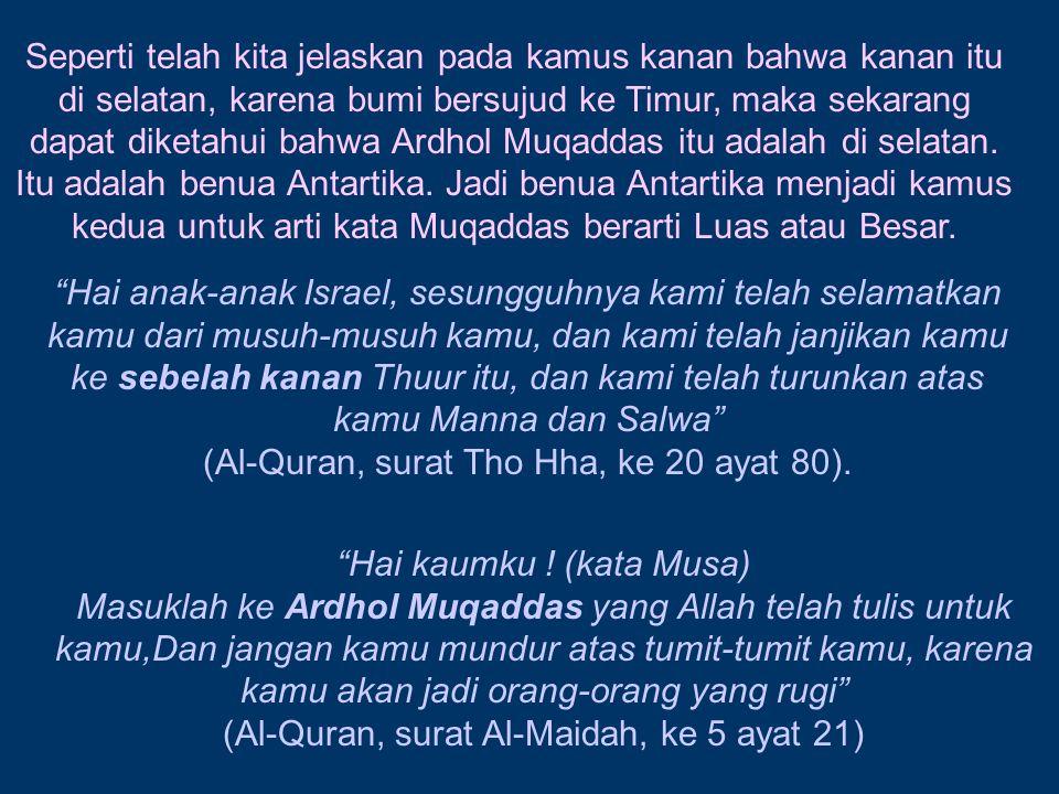 (Al-Quran, surat Tho Hha, ke 20 ayat 80).