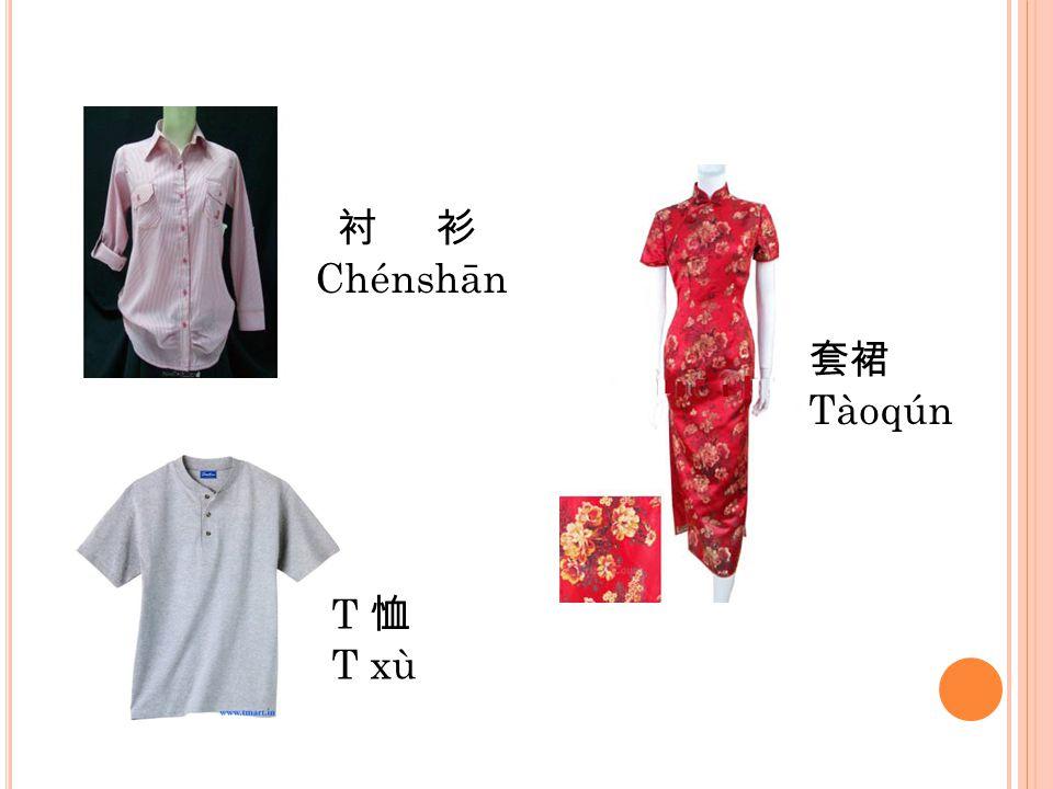 衬 衫 Chénshān 套裙 Tàoqún T 恤 T xù