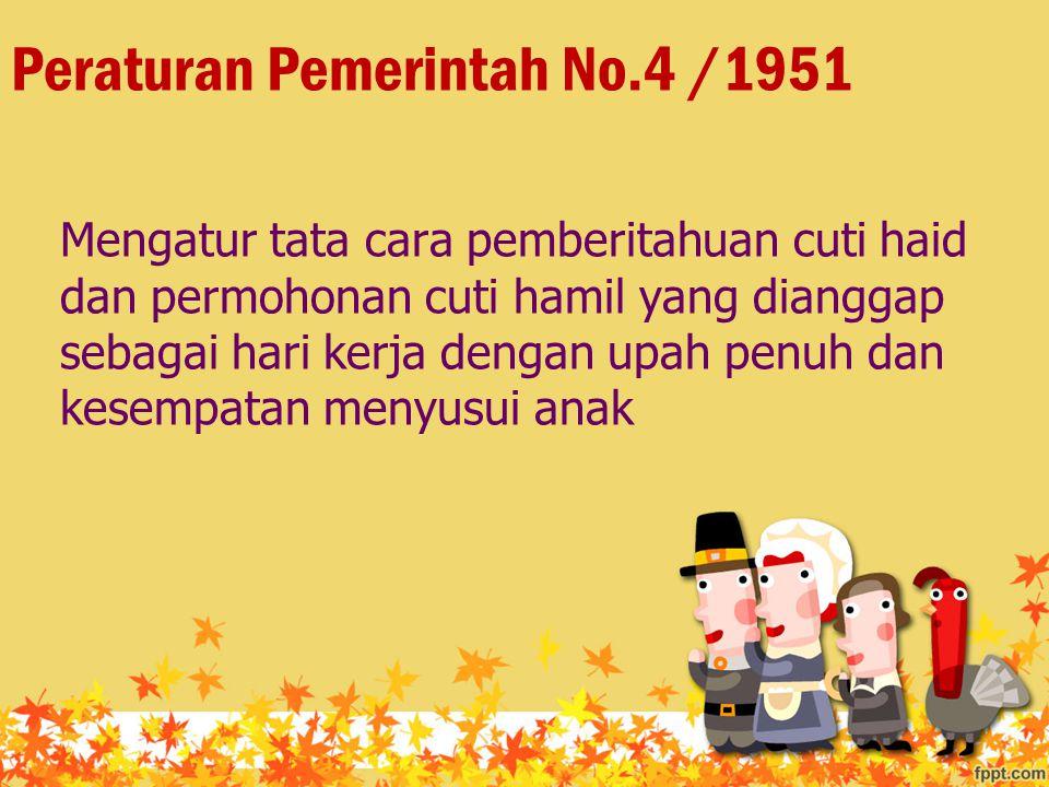 Peraturan Pemerintah No.4 /1951