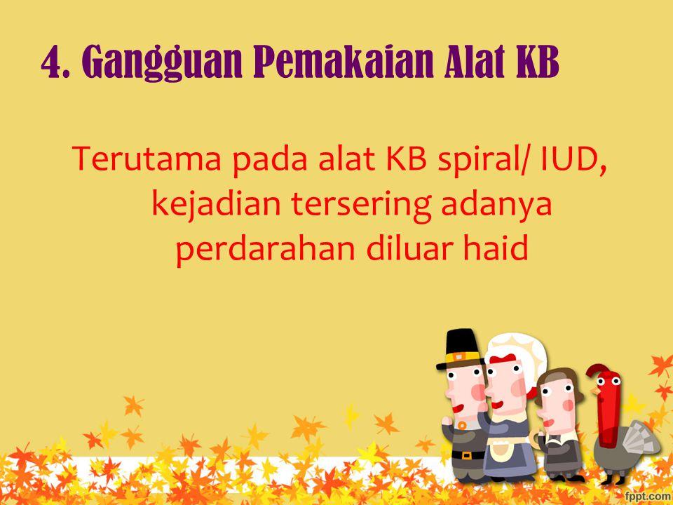 4. Gangguan Pemakaian Alat KB