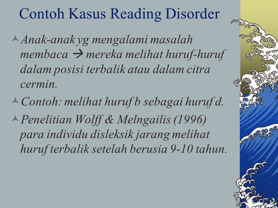 Contoh Kasus Reading Disorder