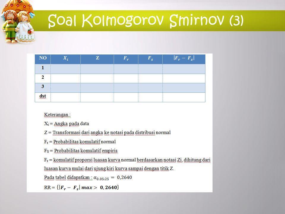 Soal Kolmogorov Smirnov (3)