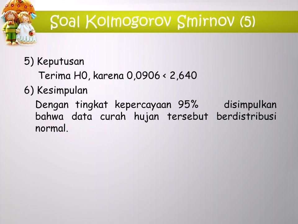 Soal Kolmogorov Smirnov (5)