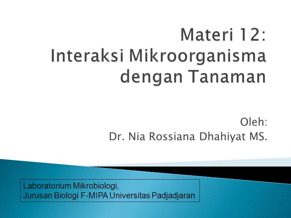 Materi 12: Interaksi Mikroorganisma dengan Tanaman
