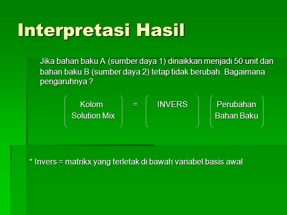 Interpretasi Hasil