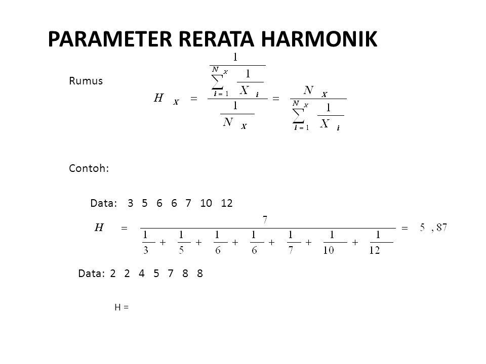PARAMETER RERATA HARMONIK