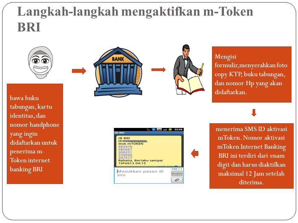 Langkah-langkah mengaktifkan m-Token BRI