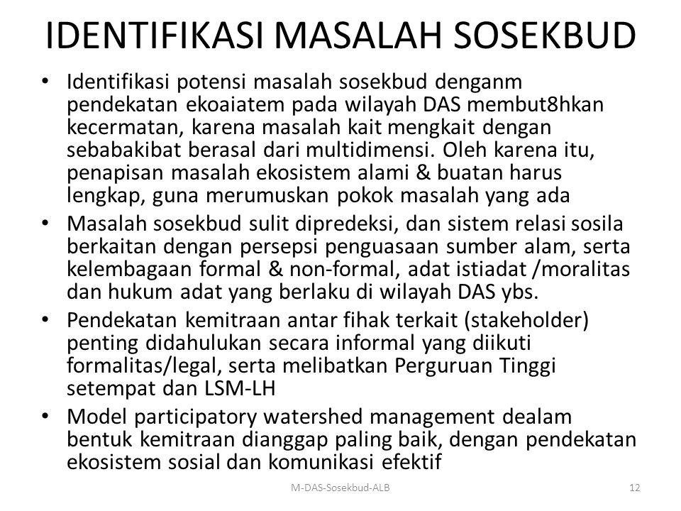 IDENTIFIKASI MASALAH SOSEKBUD