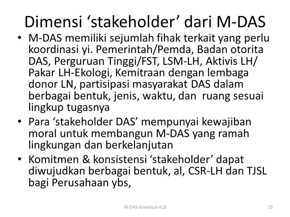 Dimensi 'stakeholder' dari M-DAS