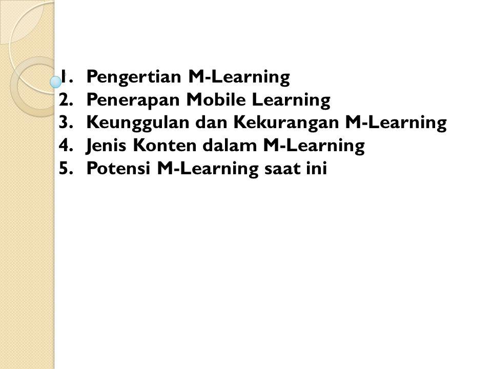 Pengertian M-Learning