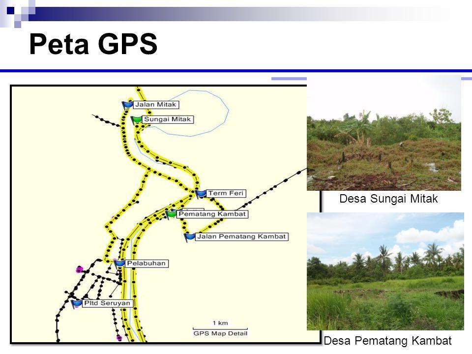 Peta GPS Desa Sungai Mitak Desa Pematang Kambat
