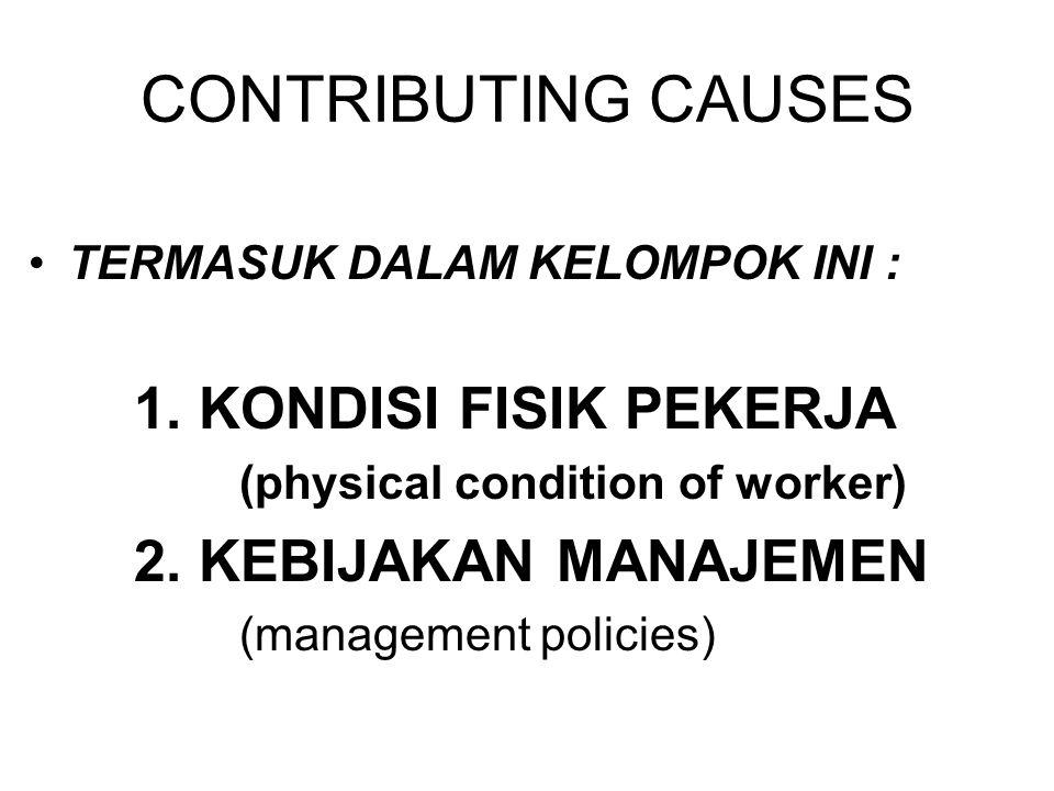 CONTRIBUTING CAUSES TERMASUK DALAM KELOMPOK INI :