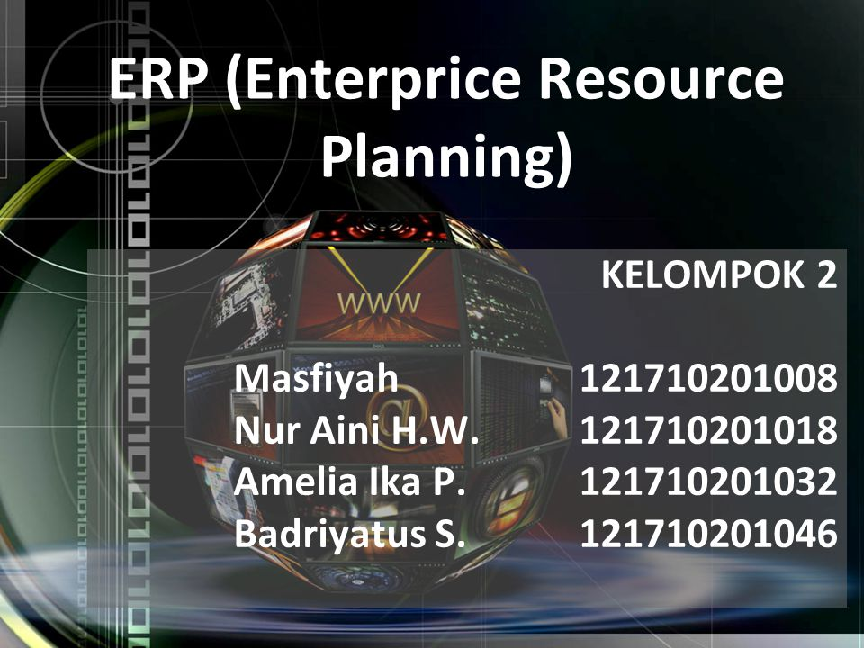 ERP (Enterprice Resource Planning)