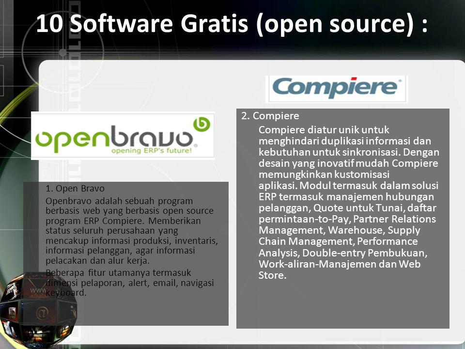 10 Software Gratis (open source) :