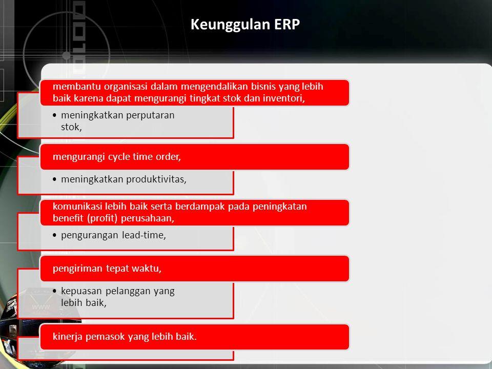 Keunggulan ERP meningkatkan perputaran stok,