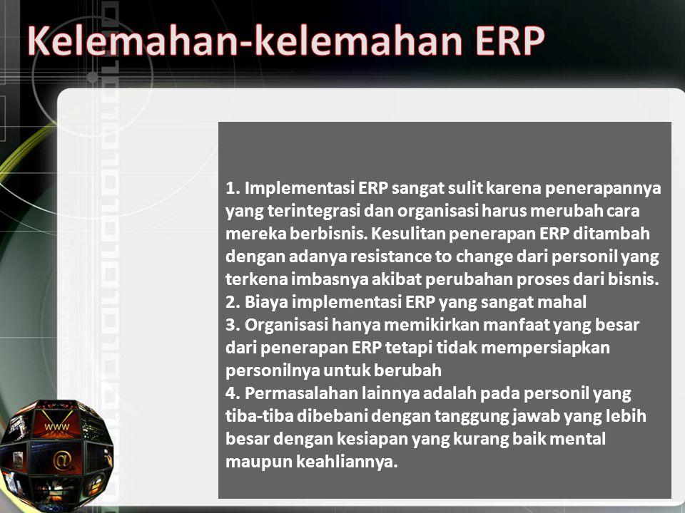 Kelemahan-kelemahan ERP