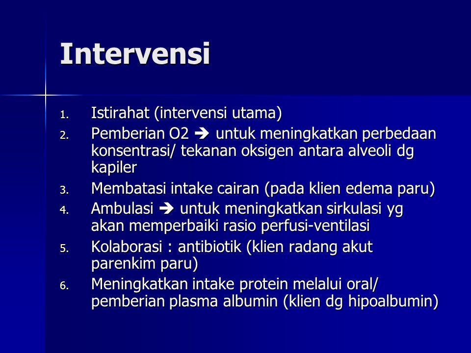 Intervensi Istirahat (intervensi utama)