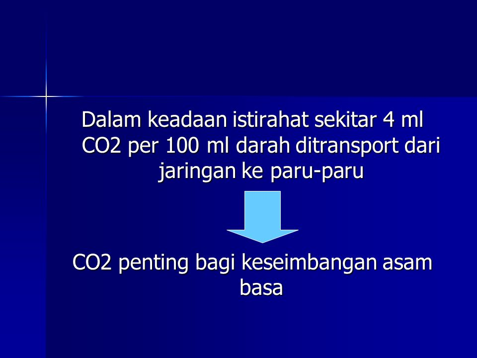 CO2 penting bagi keseimbangan asam basa