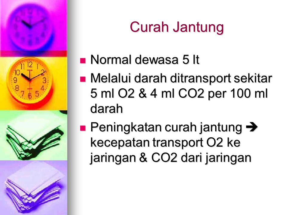 Curah Jantung Normal dewasa 5 lt