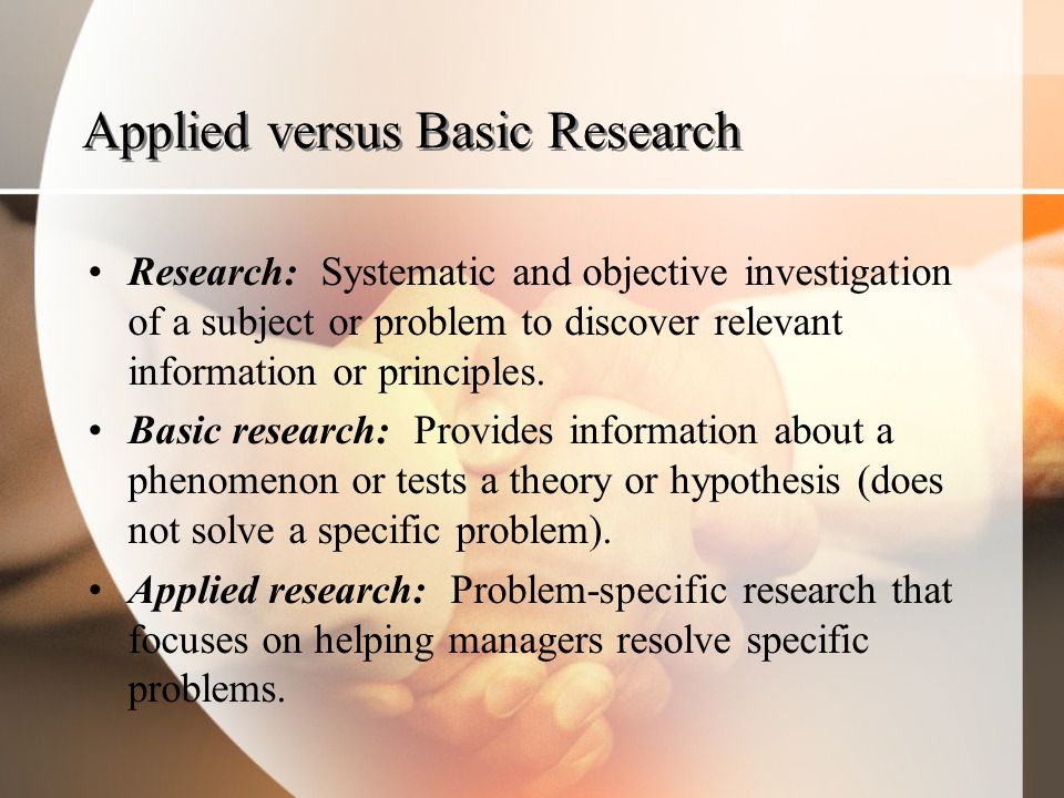 Applied versus Basic Research