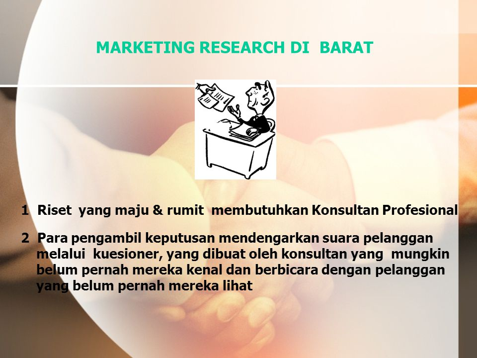 MARKETING RESEARCH DI BARAT