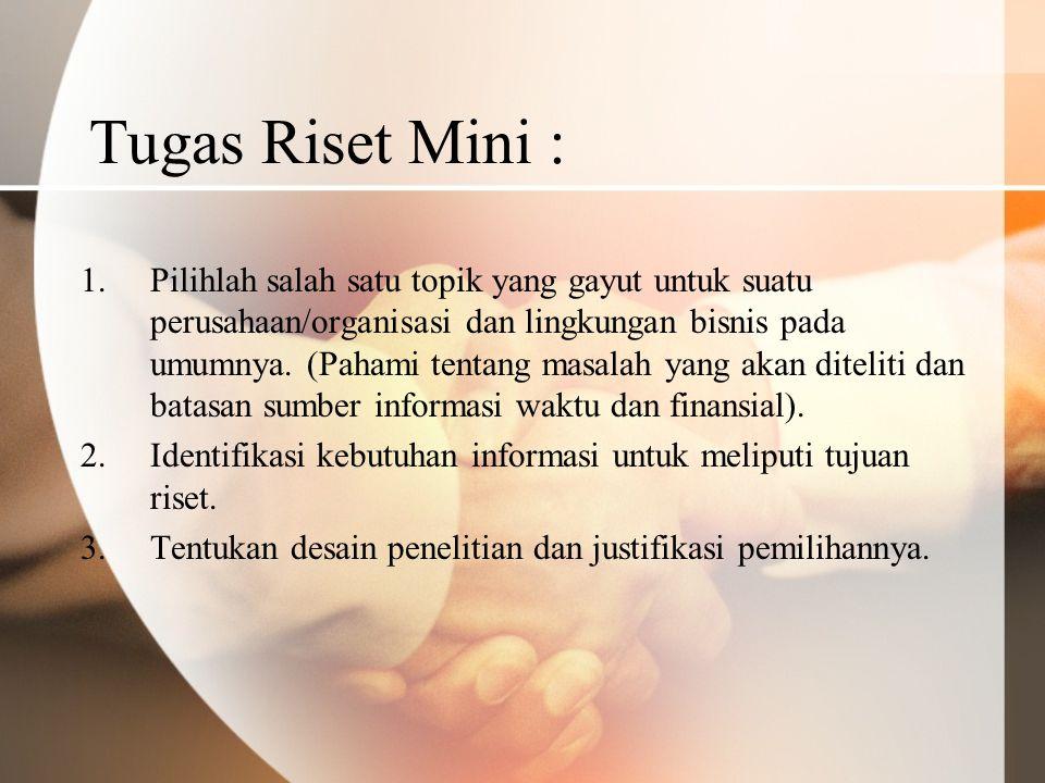 Tugas Riset Mini :