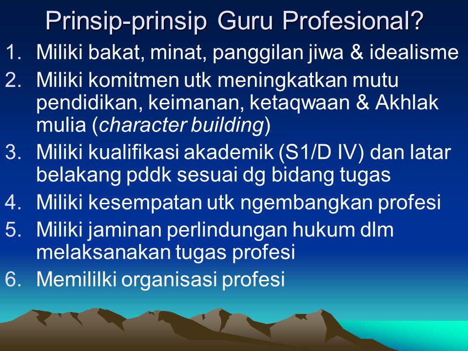 Prinsip-prinsip Guru Profesional