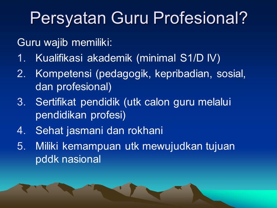 Persyatan Guru Profesional