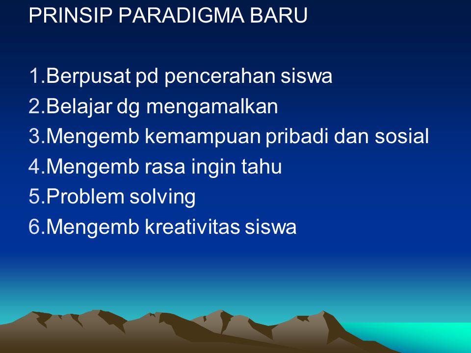 PRINSIP PARADIGMA BARU