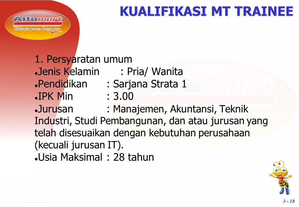 KUALIFIKASI MT TRAINEE