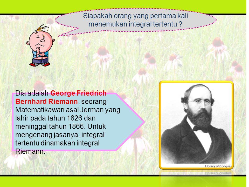 Siapakah orang yang pertama kali menemukan integral tertentu