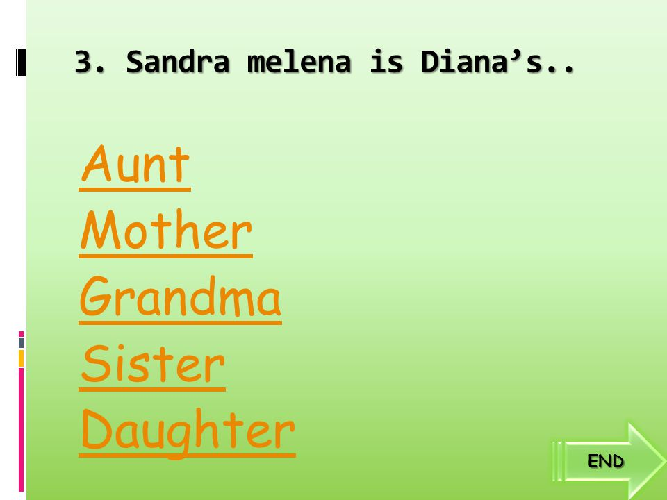 3. Sandra melena is Diana's..