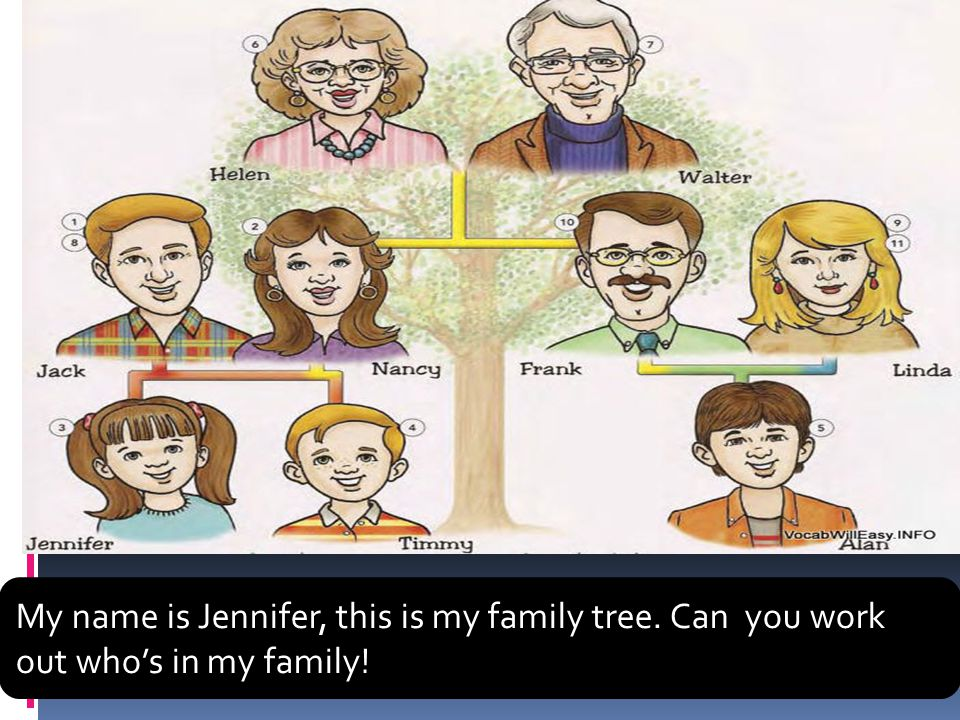 My name is Jennifer, this is my family tree