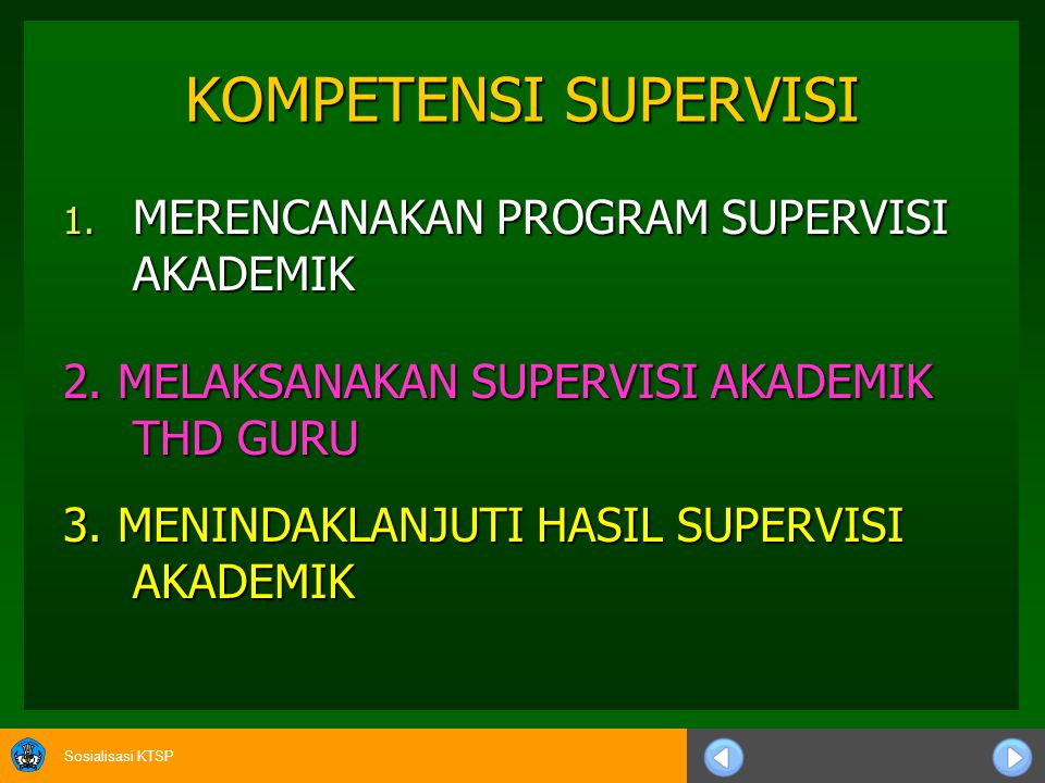 KOMPETENSI SUPERVISI MERENCANAKAN PROGRAM SUPERVISI AKADEMIK