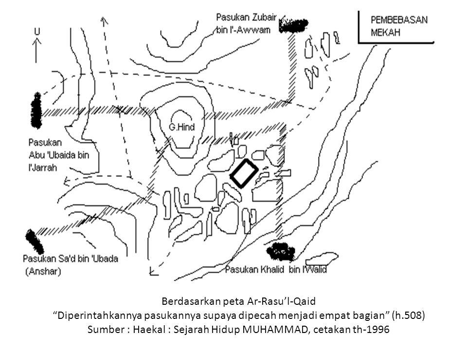 Berdasarkan peta Ar-Rasu'l-Qaid