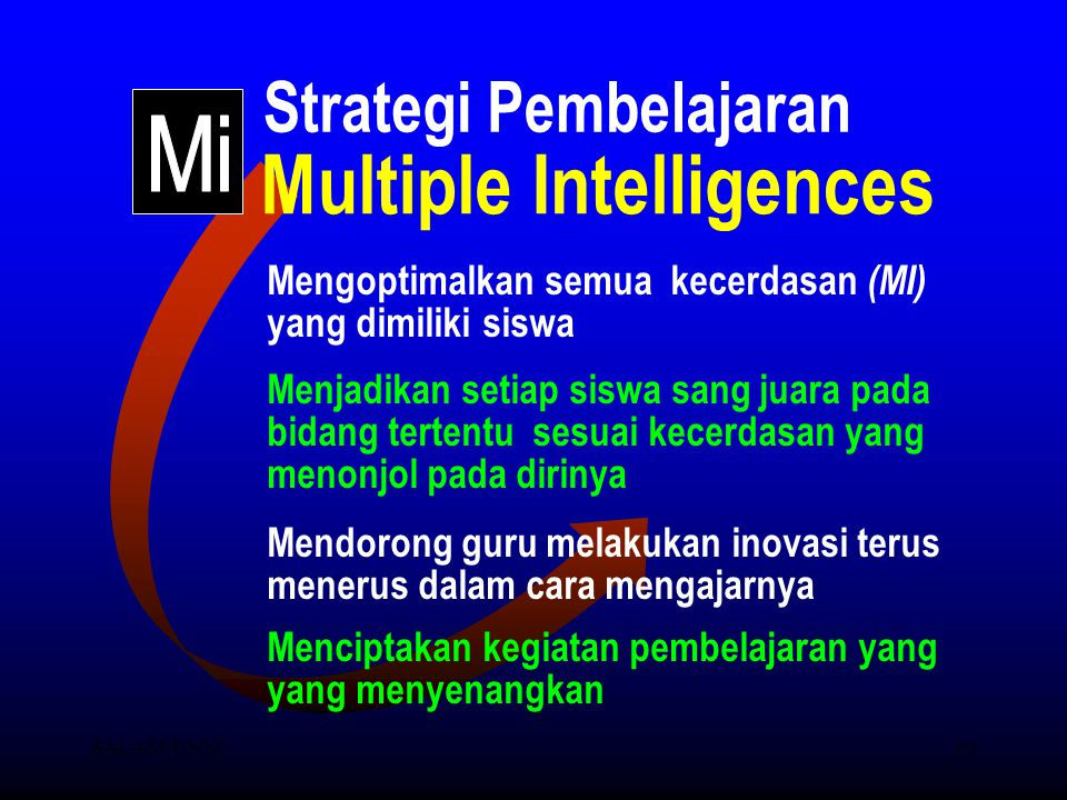 Strategi Pembelajaran Multiple Intelligences